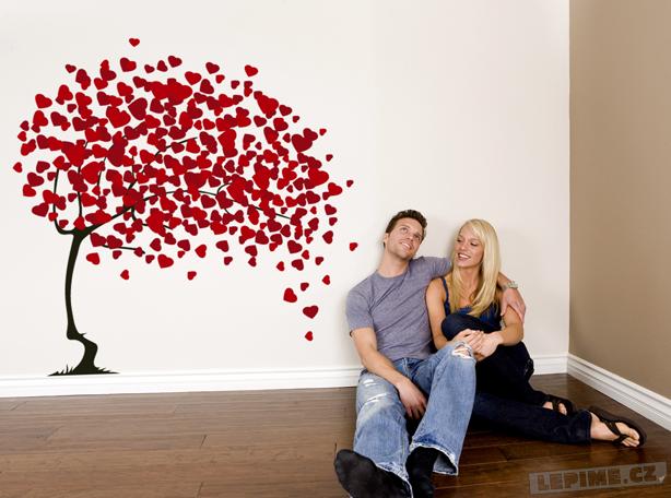 Samolepky na zeď pro zamilované